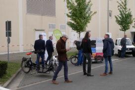 Im Außengelände des HCC Hannover standen verschiedene Fahrzeuge für Testfahrten bereit.