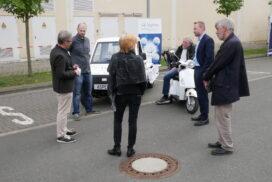 Der Leibniz, der kleine Wasserstofftransporter von Aspens, zieht besonders viele Besucher an.
