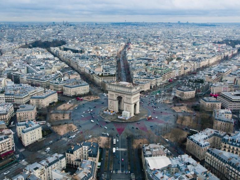 Kreisverkehr Arc de triomphe
